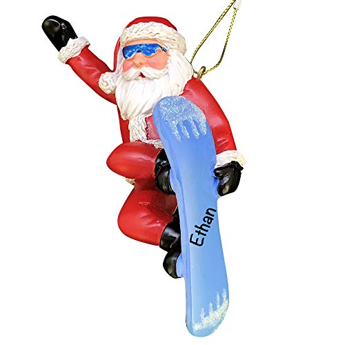 Snowboard Santa - Unique Christmas Tree Ornament - Special Keepsake - Custom Hobbies Decoration - Personalization Included