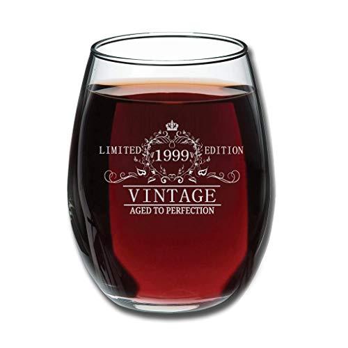Mobiliarbusshi Copa de vino sin tallo, 12 onzas, diseño vintage de 1999, para decoración de whisky, regalo de San Valentín, 350 ml, color blanco