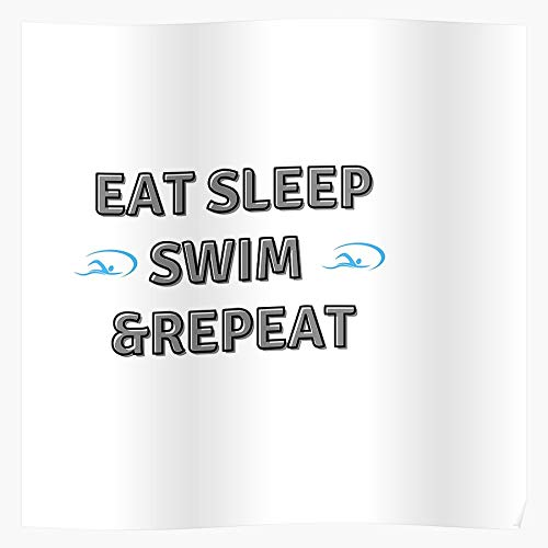 Guard Swim Swimmer Eat Pool Fitness Swimming Repeat Water Team Life Sleep Sports Home Decor Wall Art Print Poster !