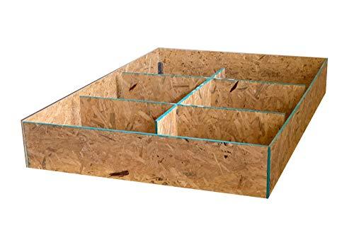 Strobel Organic Zeus Regular Beds or Waterbeds 9-in Unfinished Pedestal Platform, King, Natural