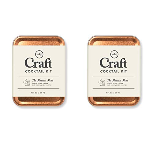 W&P Craft Cocktail Kit, Moscow Mule, Portable Kit for Drinks on the Go, Carry On Cocktail Kit, Pack of 2