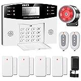 YISEELE Alarme Maison sans Fil Intelligent GSM, 9 Pièces Système d'alarme Sécurité LCD SMS/Appel Accueil Maison sécurité Anti-effraction intrus système composeur, Extensible (Version Française)
