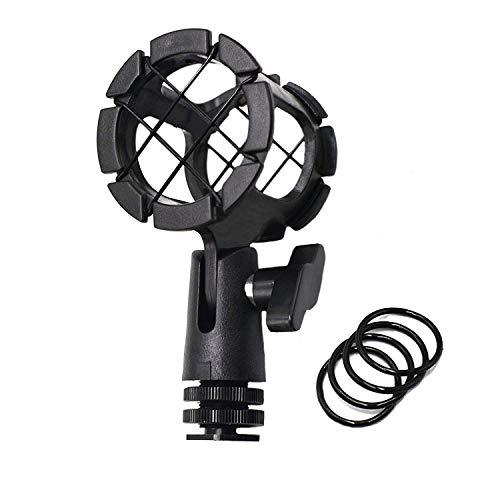 Zhiyou Supporto per microfono universale adattatore per microfono con pinza a freddo per microfoni a telecamera Supporto a scossa a rondine