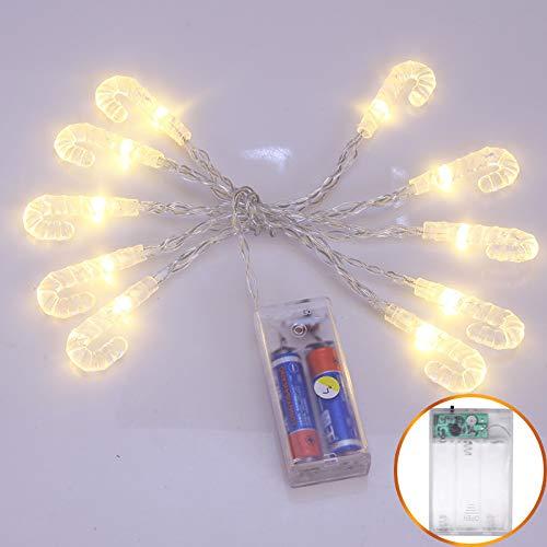 Lichtketting, feen, werkt op batterijen, tuinlamp, decoratie, tuinverlichting, warmwit, 20 lampen van 2,5 m