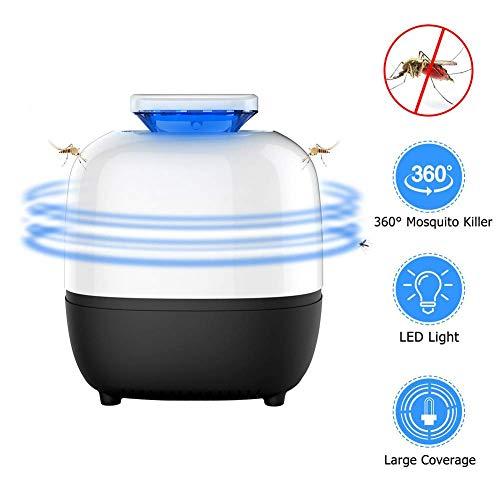 Insektenvernichter UV Insektenvernichter Elektrischer Insektenfalle Mückenlampe USB Angetrieben UV LED Stummschaltung Fluginsektenvernichter Moskitolampe für Innen Schlafzimmer Gärten Außeneinsatz
