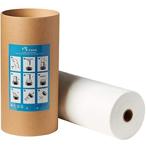 250m Nachfüllfolie kompatibel mit Tomme Tippe Tec, Twist & Click, Simplee Nachfüllkassetten, inklusive Papprolle, Geruchsminimierung (250m + Papprolle)