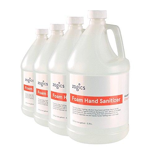Zogics Foam Hand Sanitizer, Alcohol-Free, Citrus + Aloe (4 Gallons/Case)