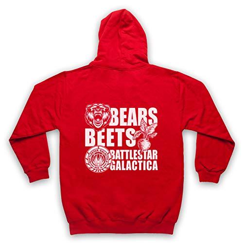 Inspired Apparel Inspirado por Office US Bears Beets Battlestar Galactica No Oficial Adultos Sudadera con Capucha con Cremallera