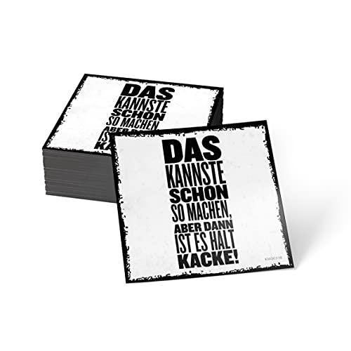 how about tee? Magnet-Sticker: Das Kannste Schon so Machen, A - Kühlschrankmagnet mit Spruch