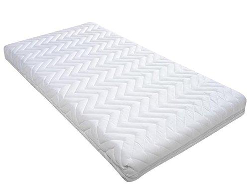 Materasso Letto Per Bambini–Schiuma–trapuntato con chiusura lampo–64x 120x 8cm–per letto Holly 60x 120cm