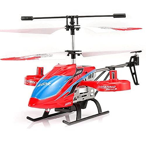 ZLMFK Helicóptero RC Drone Avión de 4 Canales Gyro Incorporado Anticolisión Juguete Volador Radio Control Remoto Avión Avión de Resistencia Juguete Regalo para Adolescentes Niños Niñas Adultos