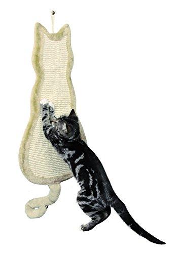Trixie 43112 Kratzbrett Katze, 35 × 69 cm, natur/beige