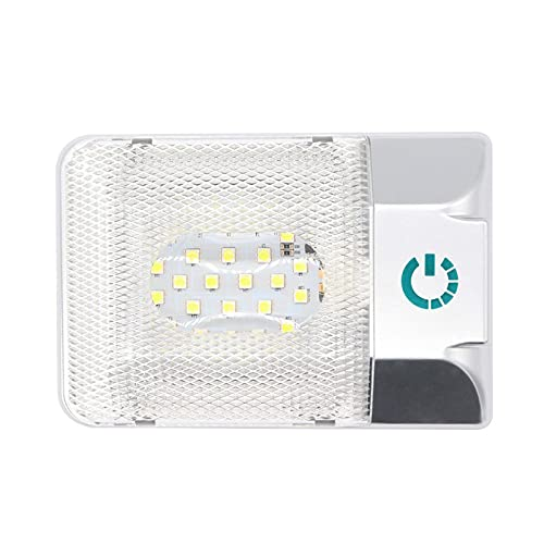LED Interior Furgoneta, LED Interior Coche, 11-18V 48 Cuentas de Lámpara Cuentas de Brillo Ajustable para Camiones Vehículos Recreativos Camionetas Yates Barcos,Blanco,18x12x3.8cm