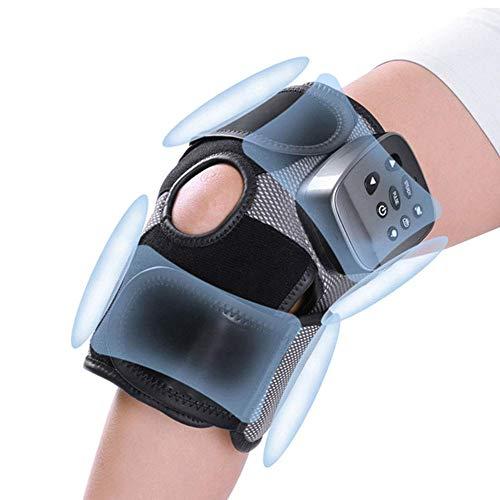 Appareil de thérapie de soulagement de la douleur arthritique de l'articulation du genou de masseur de genou avec vibration de compression d'airbag chaleur chaude aimant infrarouge Physiotheray, noir