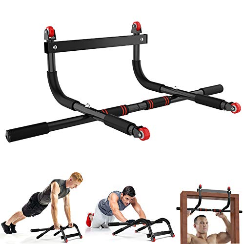Pull Up Bar, Multifunctional Portable Gym System Ab Roller Wheel,Home Gym Exercise Equipment Strength Training Upper Body Workout Bar
