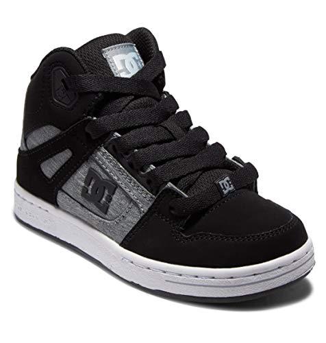 DC Shoes Pure Hi - Chaussures Montantes en Cuir - Enfant - EU 35.5 - Noir