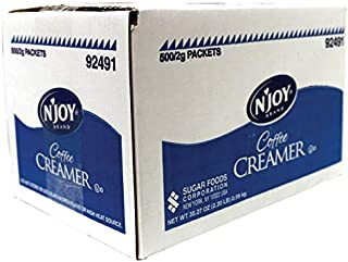 N'Joy Single-Serve Non-Dairy Coffee Creamer Packets, Box Of 500 Packets