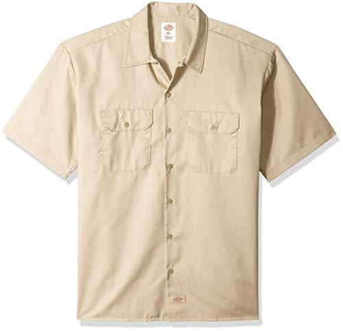Dickies Herren Regular Fit Freizeit Hemd Shrt/S Work Shirt, Kurzarm, Beige (Khaki KH), Gr. XXXX-Large (Herstellergröße: 4XL)