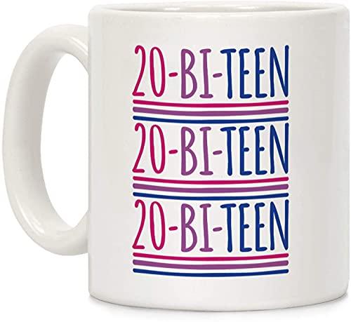 Taza de café de cerámica personalizada de 20 biadolescentes de 325 ml, para viajes, oficina, hogar