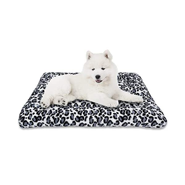 """MIXJOY Dog Bed Crate Mat 30""""/36""""/40"""" Washable Anti-Slip Kennel Pad for Large Medium Small Dogs and Cats"""