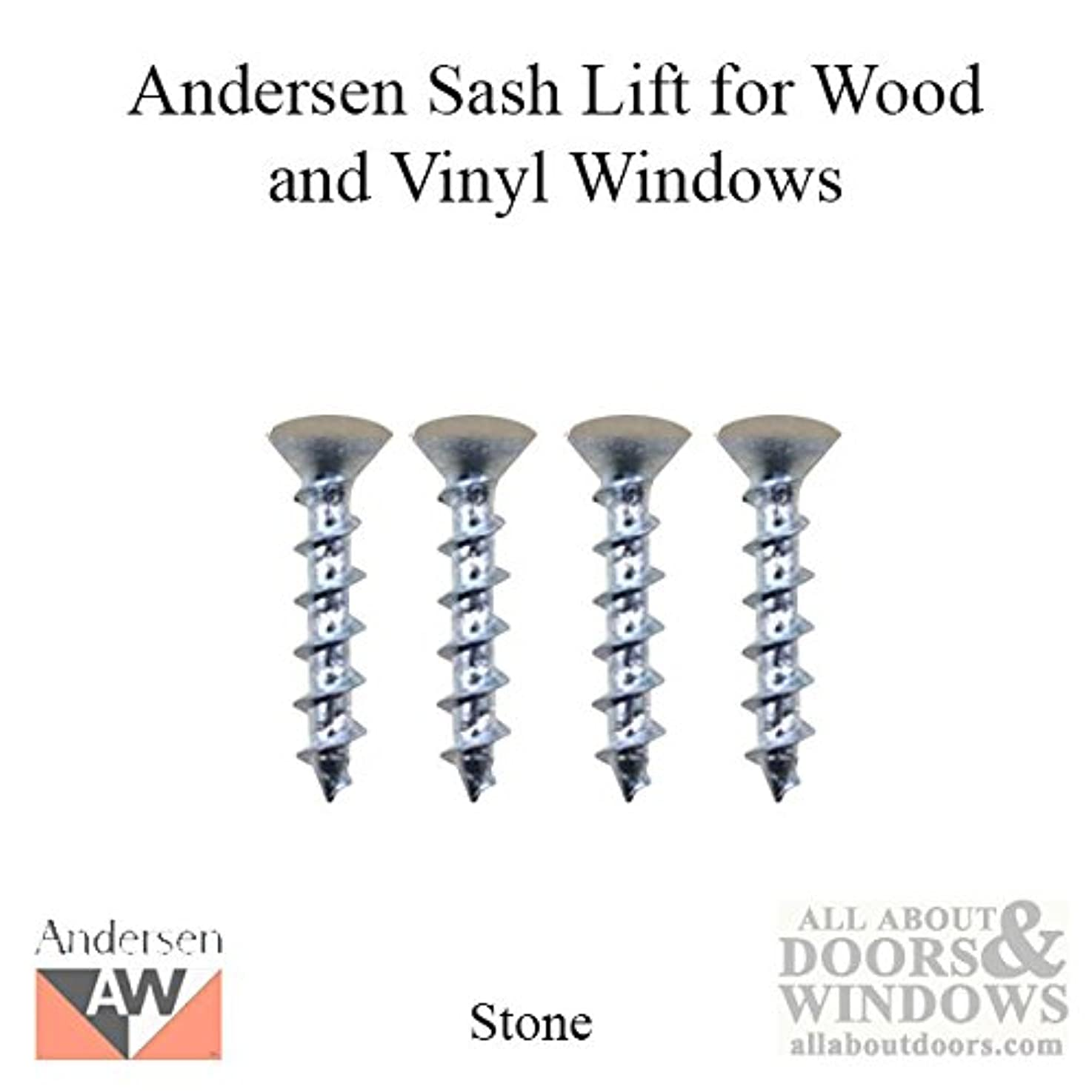 Andersen 4 Screw Pack for Sash Lock & Keeper - 400 Series Woodwright Double Hung Window - Stone