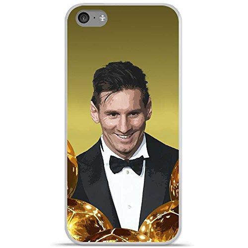Onozo Carcasa TPU Gel Suave Apple iPhone 5C Design Messi el balón de Oro