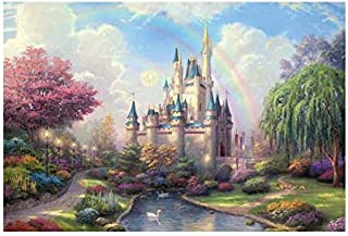 Interesting three-dimensional puzzles Disney Parks A New Day at the Cinderella Castle Thomas Kinkade 1000 Piece Jigsaw Puzzle