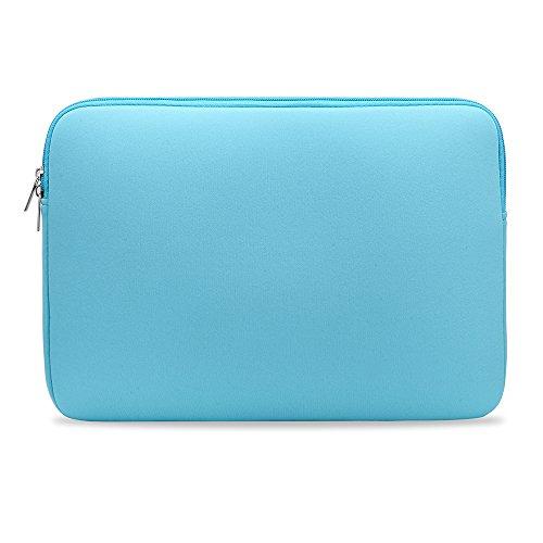 Bolsa de manga macia com zíper para substituição de bolsa para laptop portátil para MacBook Air Pro Retina Ultrabook laptop de 13 polegadas azul claro