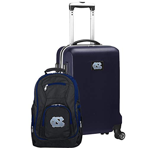 Best Price NCAA North Carolina Tar Heels Deluxe 2-Piece Backpack & Carry-On Set, Navy