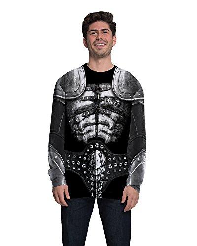 Faux Real Men's Kiss-The Demon Long Sleeve Tee Shirt, Multi, Large