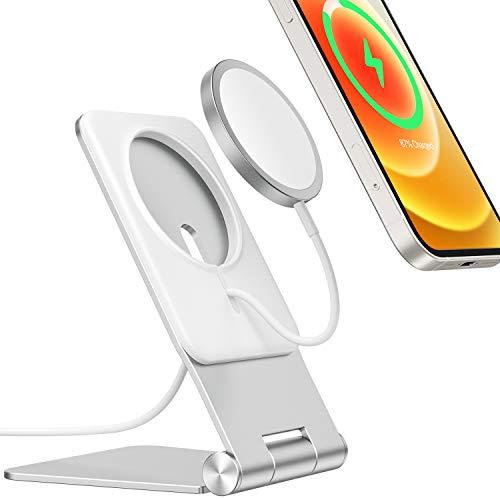 Soporte para Cargador MagSafe 2020, Soporte Compatible con Cargador MagSafe Plegable para iPhone 12, 12 Mini, 12 Pro, 12 Pro MAX (Cargador no Incluido)