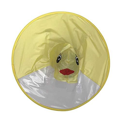 STOBOK Chubasquero con Capucha Diseño de Paraguas Pato Amarillo Plegable para Niños...