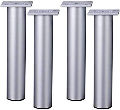 DSJMUY Möbel Füße Silber Metallic Möbel Beine Aluminiumlegierung Möbel Beine Für DIY Schreibtisch Sofa Bank Schrank 20cm 4 Stück Mit Tor