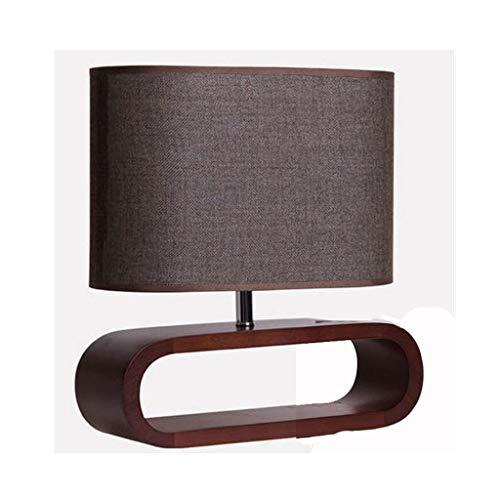 NXYJD Creativo de Madera Maciza Lámpara de Mesa de Escritorio del Dormitorio lámpara for la Mesa Minimalista Moderna de la lámpara