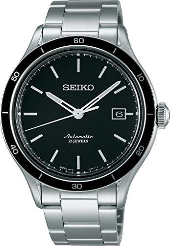 Seiko Herren Analog Automatik Uhr mit Edelstahl Armband SARG013J