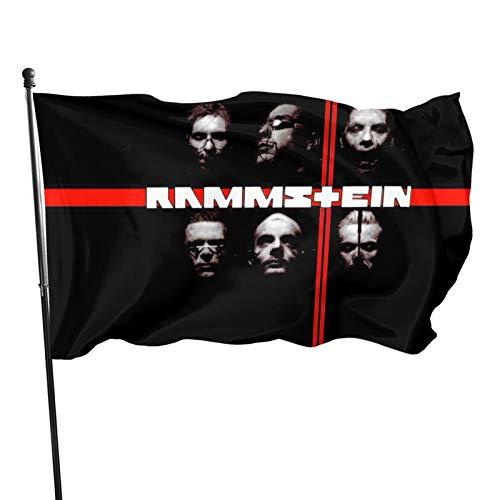 Rammstein Fahnen Flagge Flag Banner Polyester Material Gartenbalkon Gartendekoration Im Freien 90x150cm