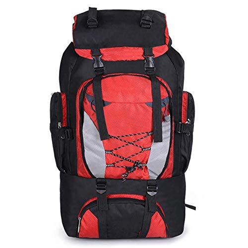 OPIUYS Bergsteiger-Rucksack, Nylon-Material, weich, 80 l, Wanderrucksack, Klettern, Angeln, Camping, Reisezubehör