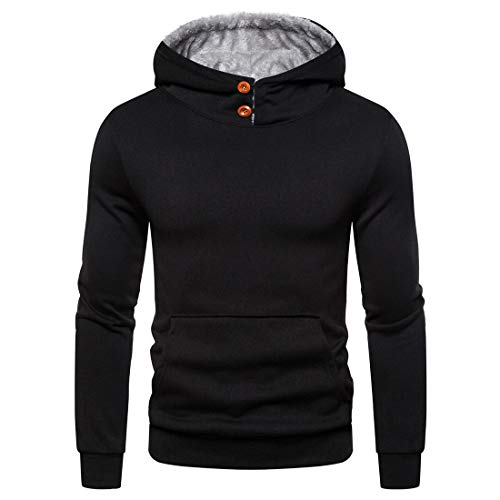 Men´s Hoodie Long Sleeve Casual Solid Color Pullover with Kangaroo Pockets Fashion Xmas Running Hoodies Spring Autumn Classic Winter Warm Christmas Hoodies Tops XXL
