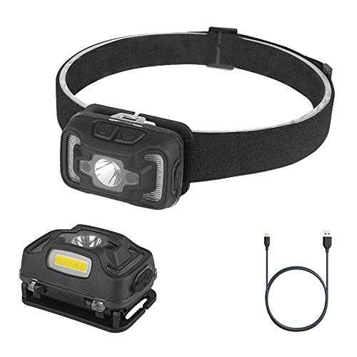 LED | USB Wiederaufladbare Scheinwerfer Außenbeleuchtung Wasserdichte Sensorlampe Kopfmontage Nachtreiten Nacht Angeln Höhle Patrouille
