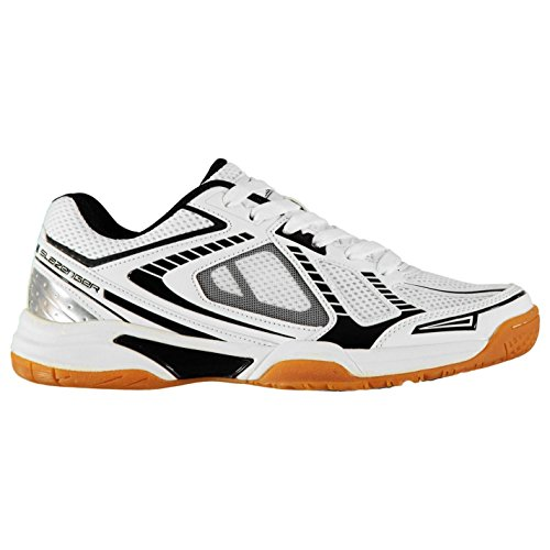 Slazenger Hombre Indoor Zapatillas De Deporte Blanco/Negro EU 41.5 (UK 7.5)