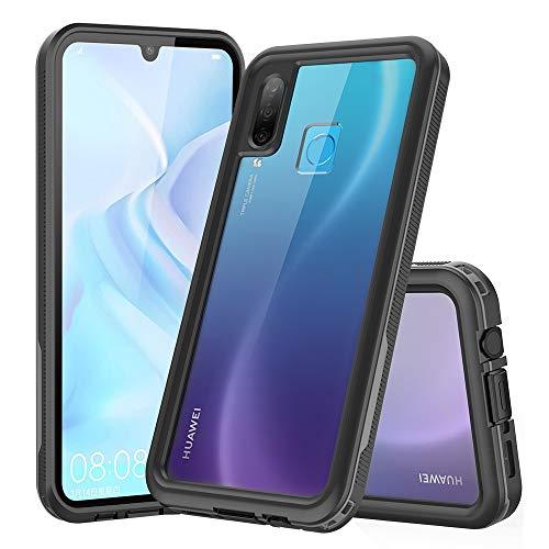 QIHANG Funda Impermeable Huawei P30 Lite, Carcasa Resistente Al Agua IP68 Certificado [Protección de 360 Grados], Carcasa para Huawei P30 Lite con Protector de Pantalla Incorporado (Negro)
