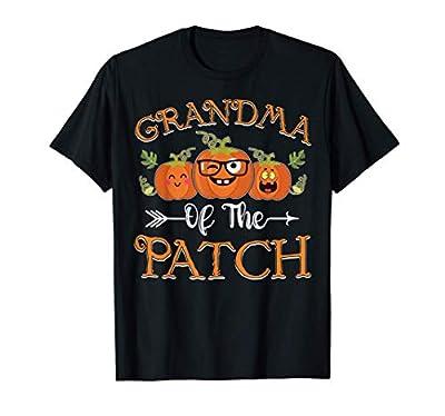 Grandma Of The Patch Pumpkin Cutest Funny Halloween Gift T-Shirt