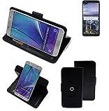 K-S-Trade® Case Schutz Hülle Für Sharp B10 Handyhülle Flipcase Smartphone Cover Handy Schutz Tasche Bookstyle Walletcase Schwarz (1x)