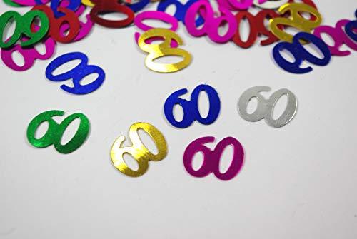 Aptafetes - Confettis de table anniversaire 60 ans multicolore (14 gr)
