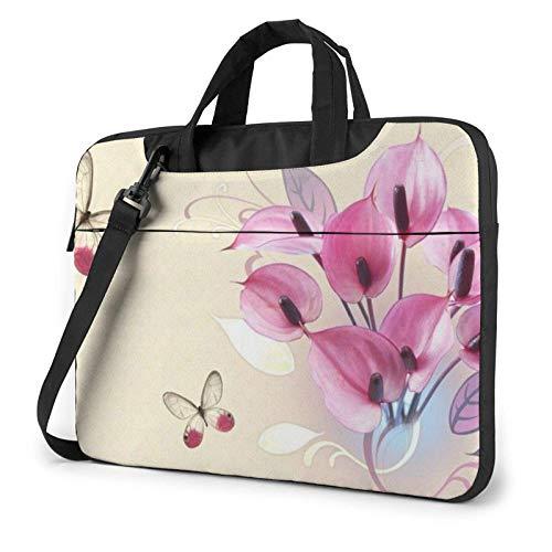Beauty Colorful Butterfly Laptop Sleeve 14 Inch Stylish Cute Neoprene Notebook Handbag