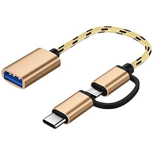 YWSZJ Cable Adaptador 2 en 1 Tipo C OTG, Adecuado para...