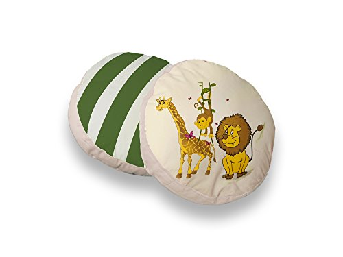 Ticaa Rundes Kissen-Set für Kinderzimmer 2-teilig