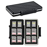 JJC 24 スロット メモリーカードケース メモリーカードホルダー 12枚 SD SDHC SDXC カード + 12枚 CFexpress Type A カード 収納ケース 耐衝撃 防塵 防湿