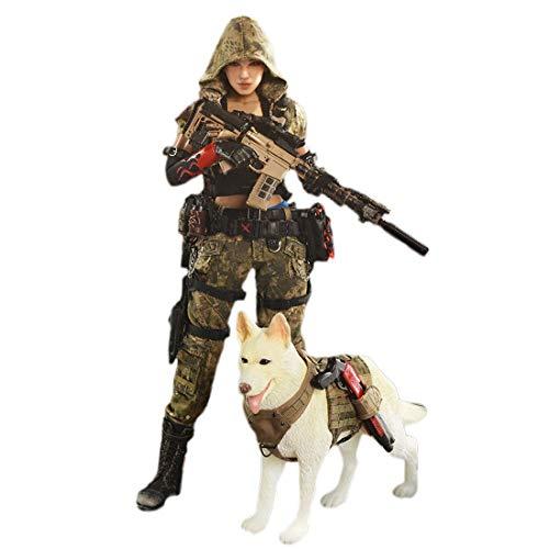Mecotecn 1/6 Figuras Soldados, 12 Figura de Acción Soldados Femenino con Arma , Figuras Militares Conjuntos de Juegos