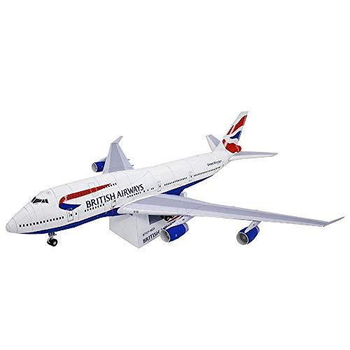 ELVVT Boeing 747 Modelo 3D de Papel de Bricolaje Rompecabezas Juguete Arte de Papel Puzzles 3D Aviones Kits de Edificio Modelo de Juguete de Regalo